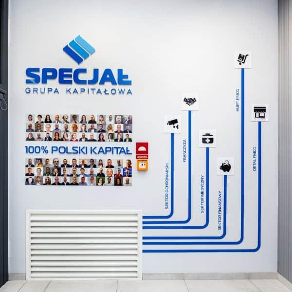 Dekoracja przestrzeni biurowej Specjał